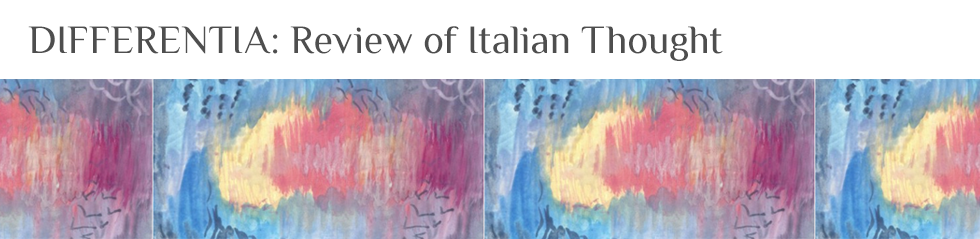 Differentia: Review of Italian Thought